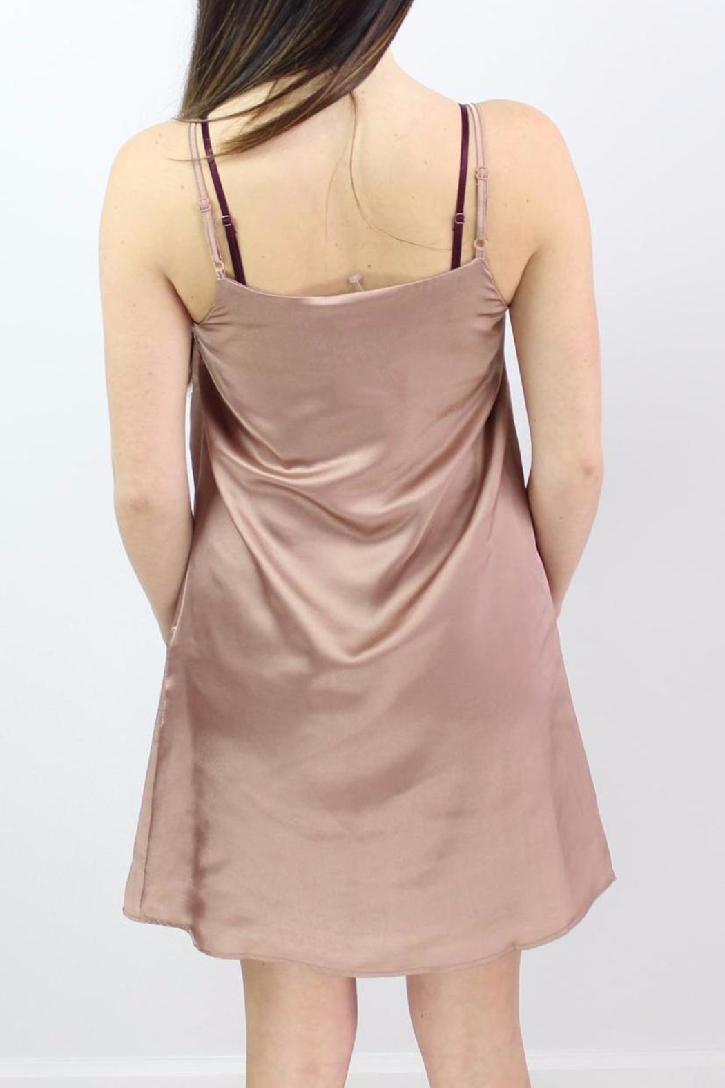 Glamorous Sweetheart Slip Dress - Back Cropped Image