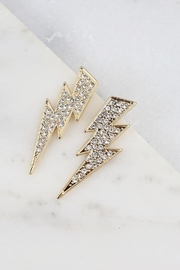 Caroline Hill Glamour Lightning Bolt Earrings - Product Mini Image