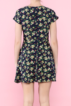 Glamourous Navy Floral Print Dress - Alternate List Image