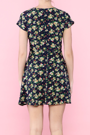 Glamourous Navy Floral Print Dress - Back cropped