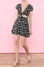 Glamourous Navy Floral Print Dress - Front full body