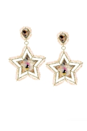 Lets Accessorize Glass-Bead Star Earrings - Product Mini Image