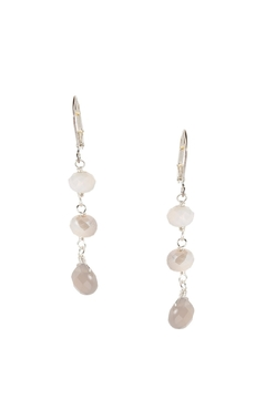 Dana Herbert Glass Crystal Earrings - Alternate List Image