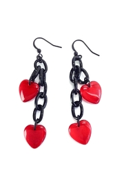 GHome2 Glass Heart Earrings - Product Mini Image