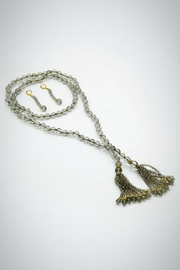Embellish Glass Lariat Necklace - Product Mini Image