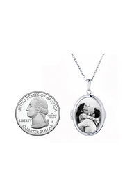 With You Lockets Glass Locket Necklace - Product Mini Image
