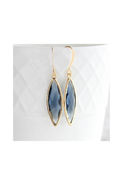The Birds Nest Glass Marquis Drop Earrings - Montana Blue (Gold/Montana) - Front cropped
