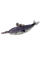 GHome2 Glass Narwhal Ornament - Product Mini Image