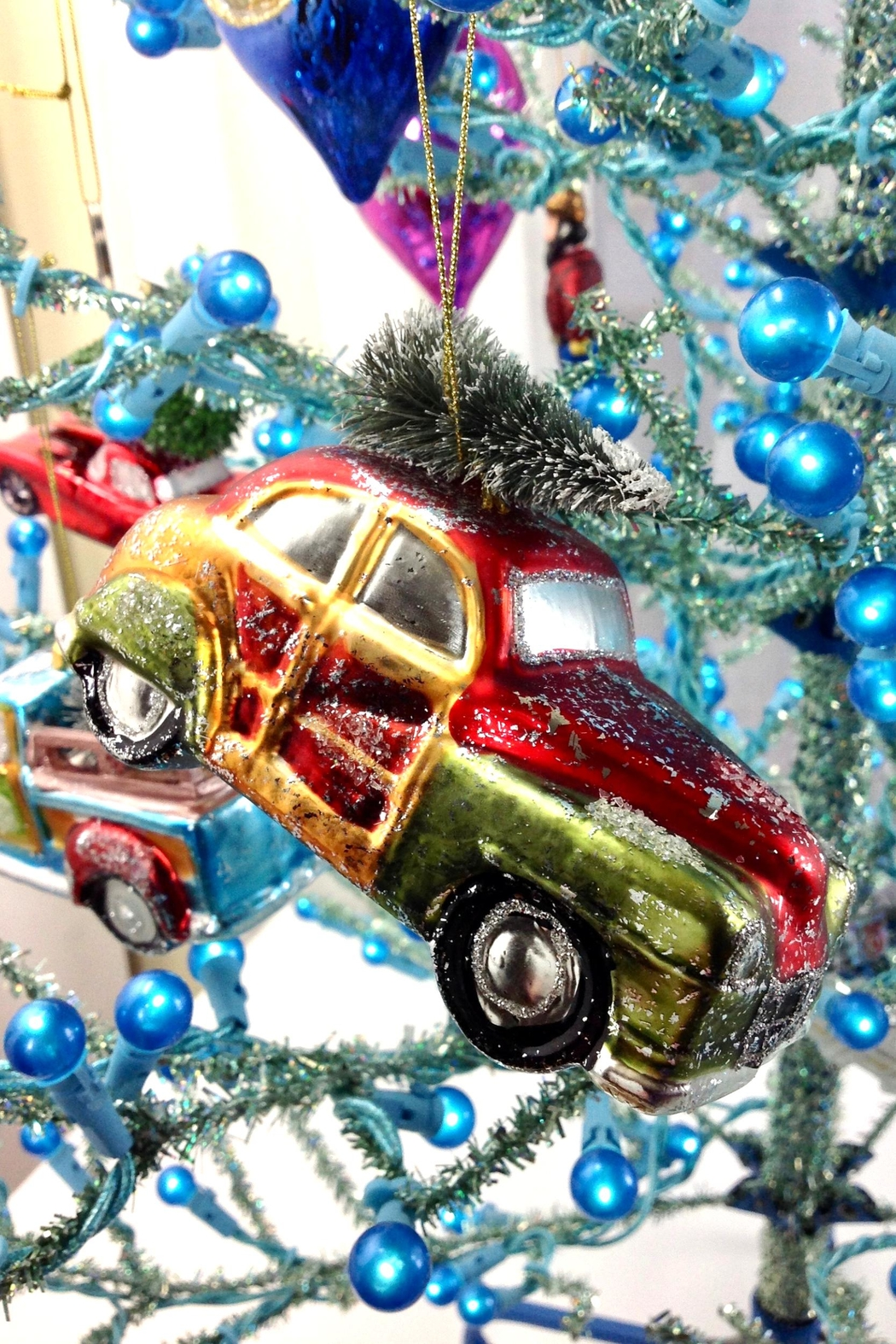 GHome2 Glass Roadster Ornament - Side Cropped Image
