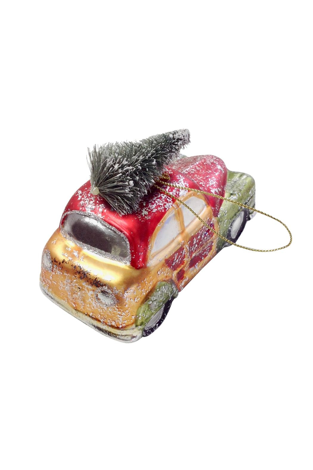 GHome2 Glass Roadster Ornament - Front Full Image