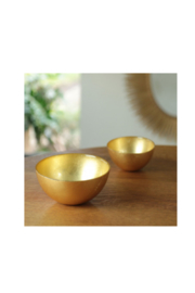 The Birds Nest GLASS ROUND BOWL SET-GOLD FOIL - Product Mini Image