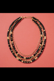 avenue zoe  Glass Rubber Beads Layered Necklace - Product Mini Image