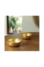 The Birds Nest GLASS SHALLOW ROUND BOWL SET-GOLD FOIL - Product Mini Image