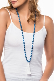 Olive & Loom Glass Tassel Necklace - Front cropped
