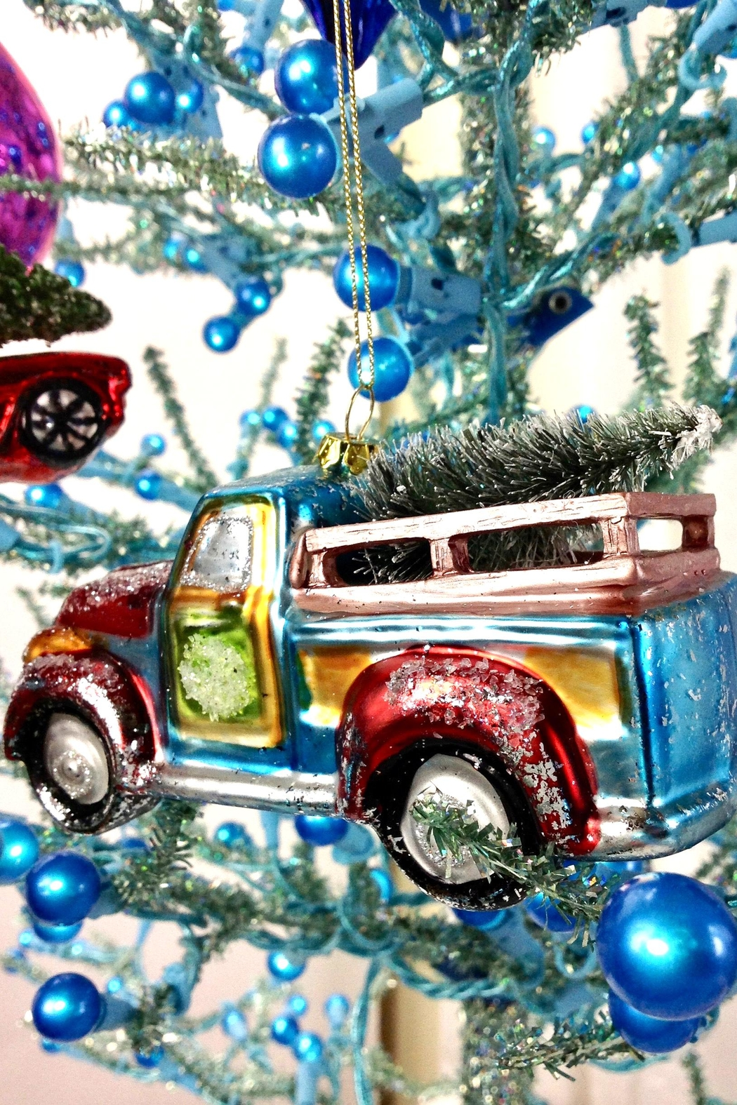 GHome2 Glass Truck Ornament - Side Cropped Image