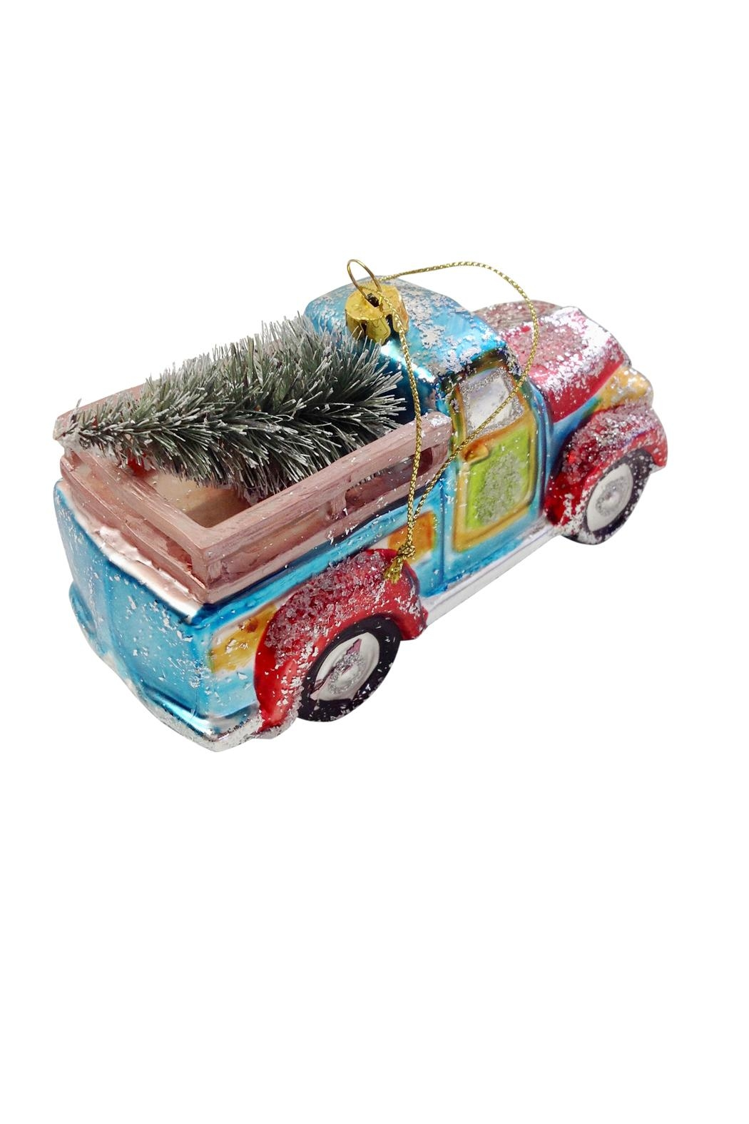 GHome2 Glass Truck Ornament - Front Full Image