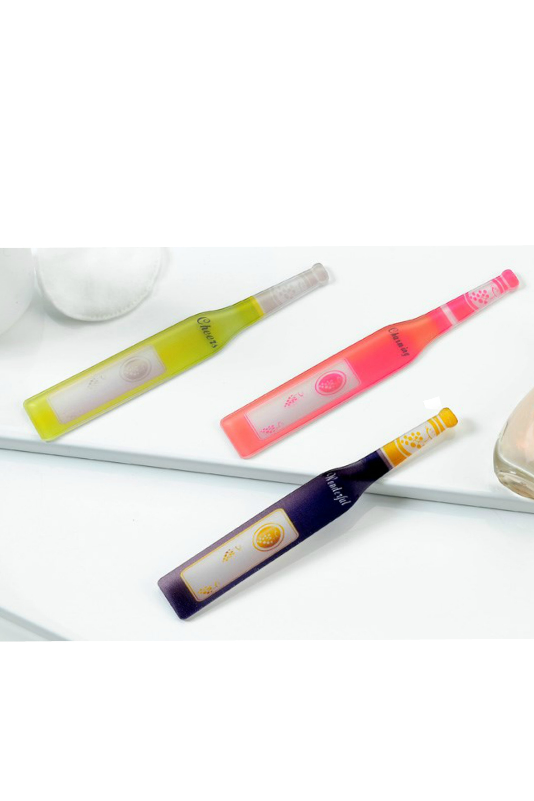 Gift Craft Glass Wine Bottle Nail File - Front Full Image