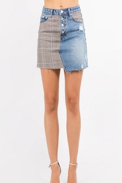 Shoptiques Product: Glen Check Skirt