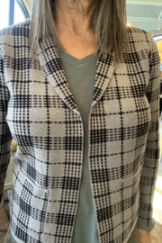 Sioni Glen plaid cardigan - Front cropped