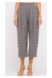 Polly & Esther Glen-Plaid Cropped Trousers - Product Mini Image