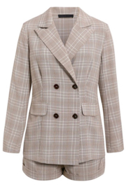 May Blue  Glen Plaid Double Breasted Blazer - Other