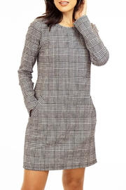 Veronica M Glen Plaid Ponte Shift Dress - Product Mini Image