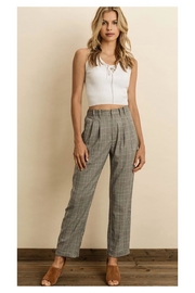 Polly & Esther Glen Plaid Trousers - Product Mini Image