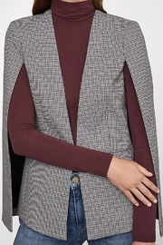 BCBG Max Azria Glen Plaid Woven Cape Jacket - Product Mini Image