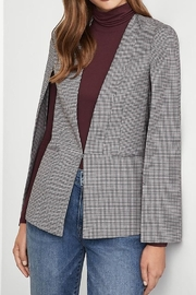 BCBG MAXAZRIA Glen Plaid Woven Cape Jacket - Front full body