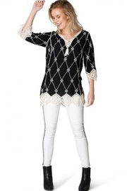 Yest  Glenn Top with Crochet Accents - Product Mini Image