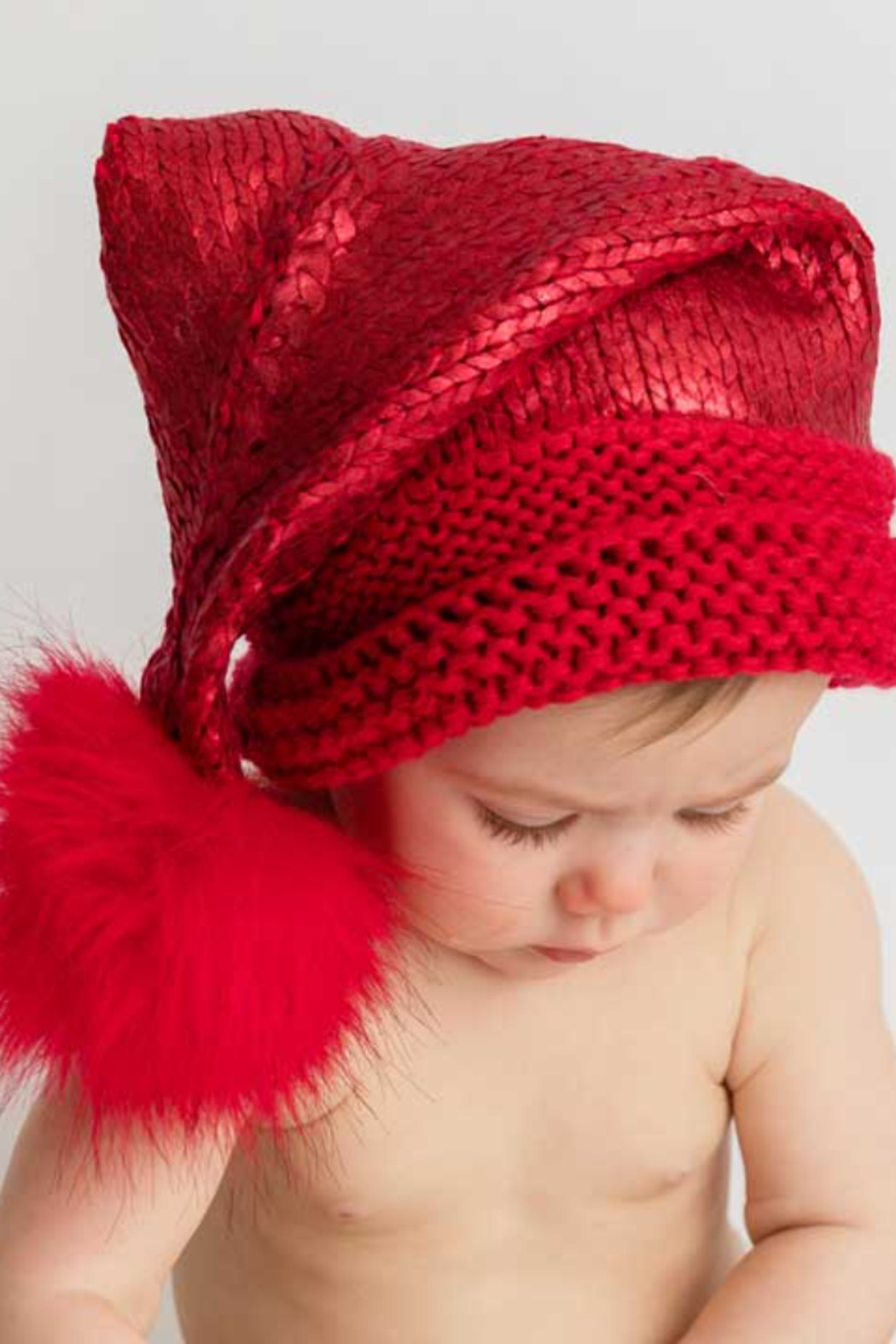 Huggalugs Glimmer Santa Stocking Hats 0-6 Months - Front Full Image