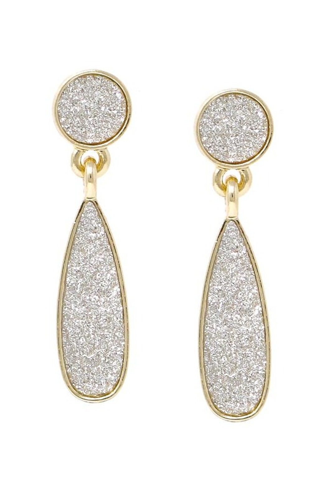 US Jewelry House Glitter Drop Earrings - Front Cropped Image