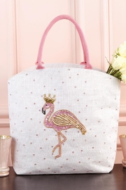 2 Chic Glitter Flamingo Tote - Product Mini Image