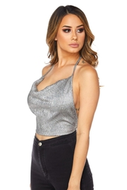 TIMELESS Glitter Halter Top - Front full body