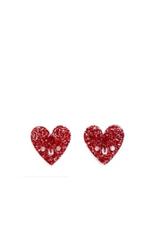 Little Moose Glitter Heart Earrings - Product Mini Image