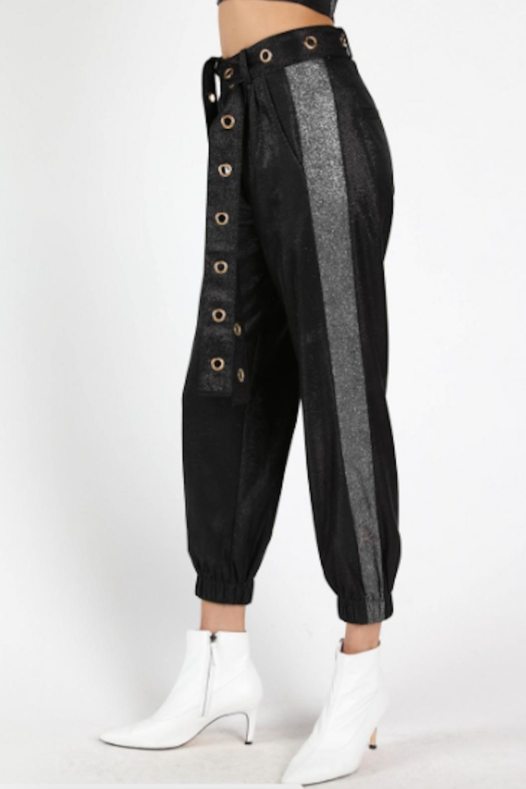 TIMELESS Glitter Joggers - Side Cropped Image