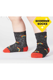 Sock it to me Glitter Over The Rainbow Toddle Crew Sock - Product Mini Image