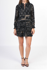 Current Air Glitter pleated mini dress - Front cropped