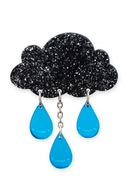 Little Moose Glitter Raincloud Brooch - Product Mini Image