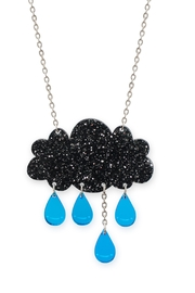 Little Moose Glitter Raincloud Necklace - Product Mini Image
