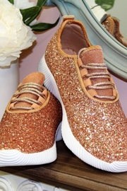 Qupid Glitter Sneakers - Front cropped