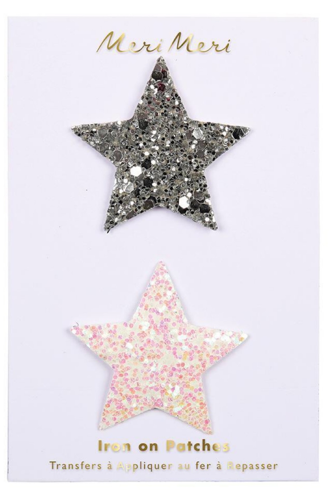 Meri Meri Glitter Star Patches - Front Cropped Image