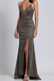 Dave and Johnny Glitter Tie-Back Gown - Product Mini Image