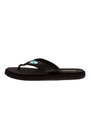 Glitterflops Athena Turquoise Flip Flops - Side cropped