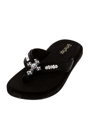 Glitterflops Crystal Cross Flip Flops - Front cropped