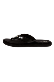 Glitterflops Crystal Cross Flip Flops - Front full body