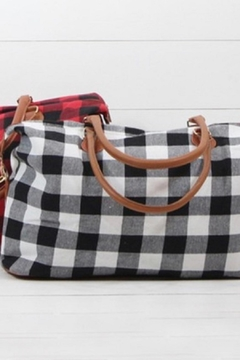 Glittering South Plaid Duffel Tote - Alternate List Image