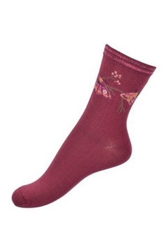 Shoptiques Product: Glittery Butterfly Moth Socks