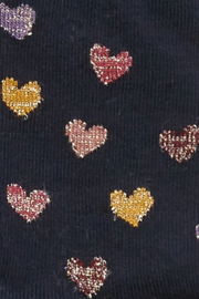 Melton Glittery Heart Tights - Front cropped