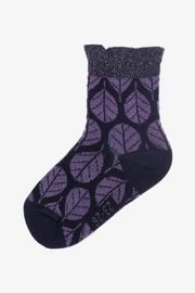 Melton Glittery Leaf Socks - Product Mini Image